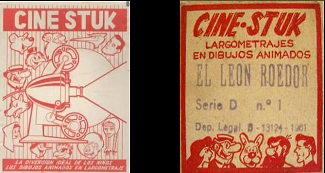 Publicidad de películas de Cine Stuk invento de Josep Escobar Saliente