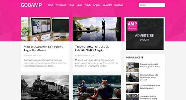 GOOAMP AMP Blogspot Template