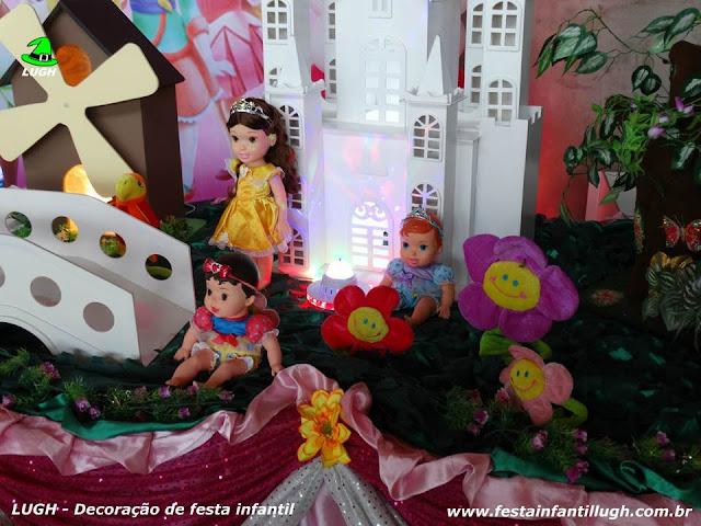 Decoração Princesas Baby Disney para festa infantil de meninas - Mesa decorada para aniversário