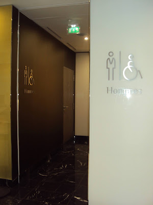 Public toilette at Palais des Congrès (Convention Center) in Paris (France)
