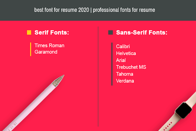 Best font for resume 2020 | Professional fonts for resume