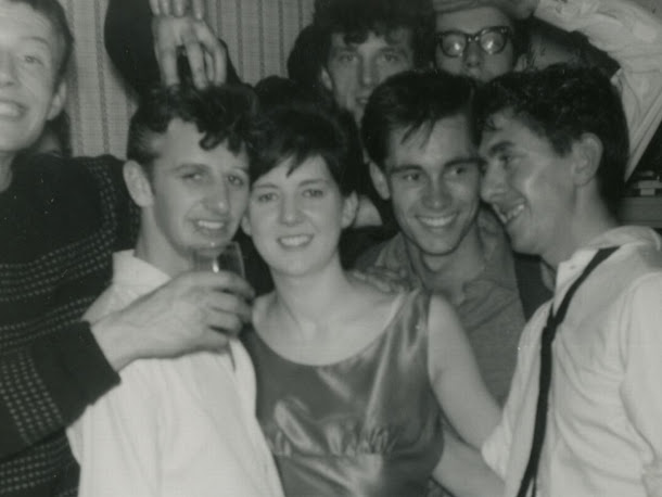 Ringo with Cilla and some of the big three: johnny Hutch, Johnny Gustafson and Adrian Barber