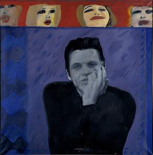 Pauline Boty, Portrait of Derek Marlowe with Unknown Ladies