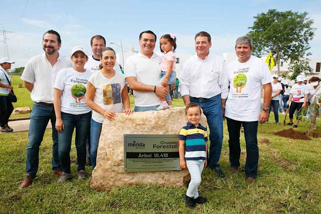Concluyó la Cruzada Forestal 2019 en Mérida