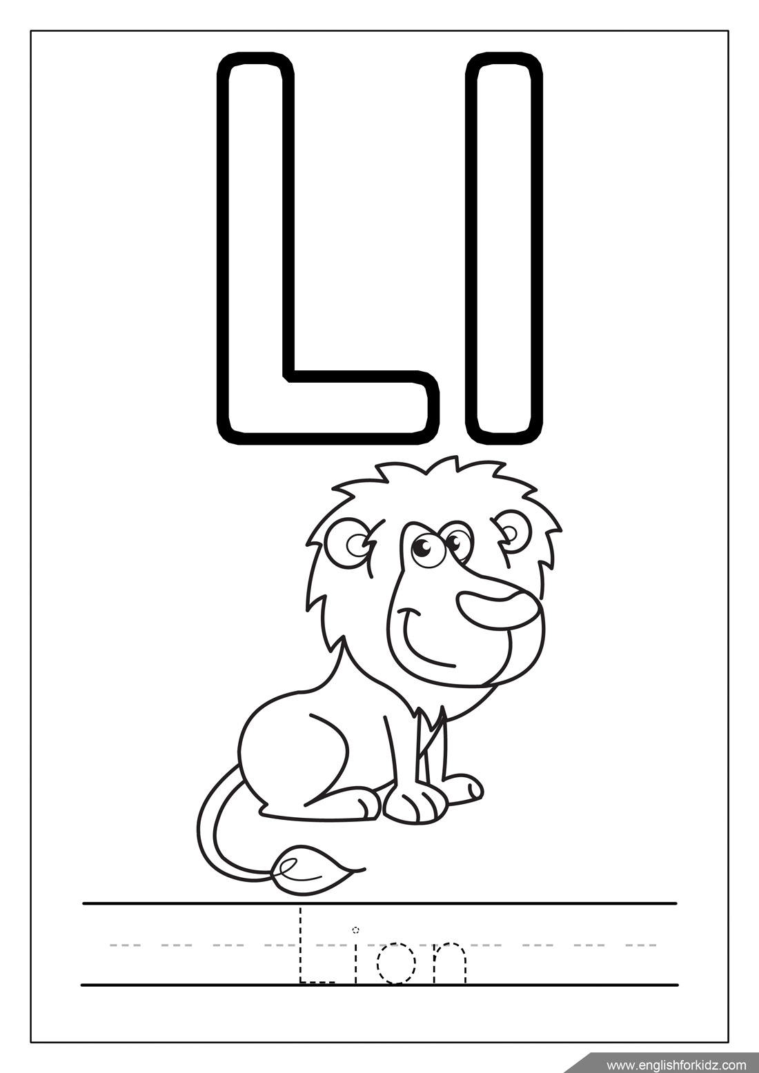 English For Kids Step By Step Alphabet Coloring Pages Letters K