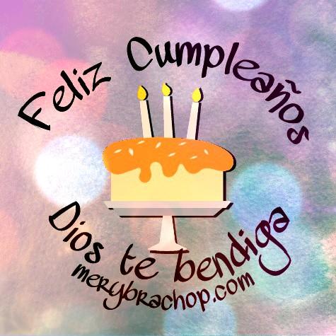 Mensaje de cumpleaños corto para amigo o amiga. Frases en Bonita Tarjeta Cristiana de Cumpleaños con gif para regalar a un cumpleañero por Mery Bracho
