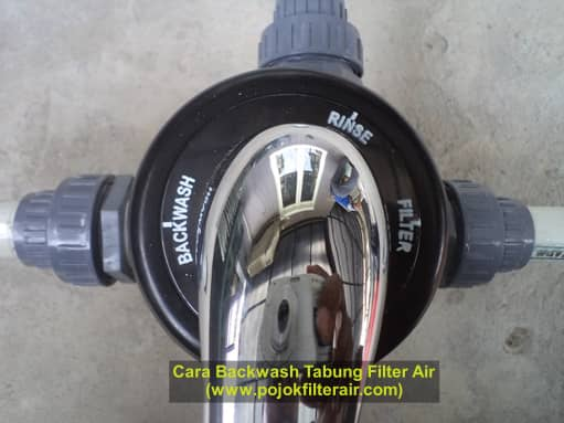 cara backwash filter air