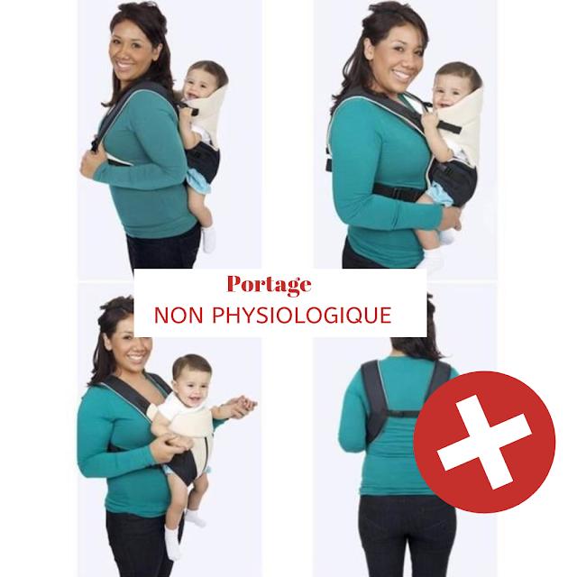 porte bébé non physiologique déconseillé
