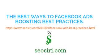 What is the best way to Facebook ads boosting best practices?