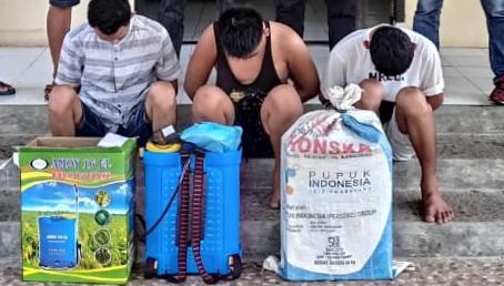 Bobol Kantor Pekon Bandar Sukabumi, Tiga Tersangka Ditangkap Polsek Wonosobo