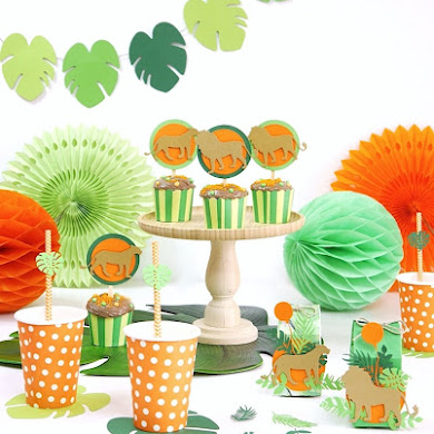 Lion and Jungle DIY Birthday Party Decorations