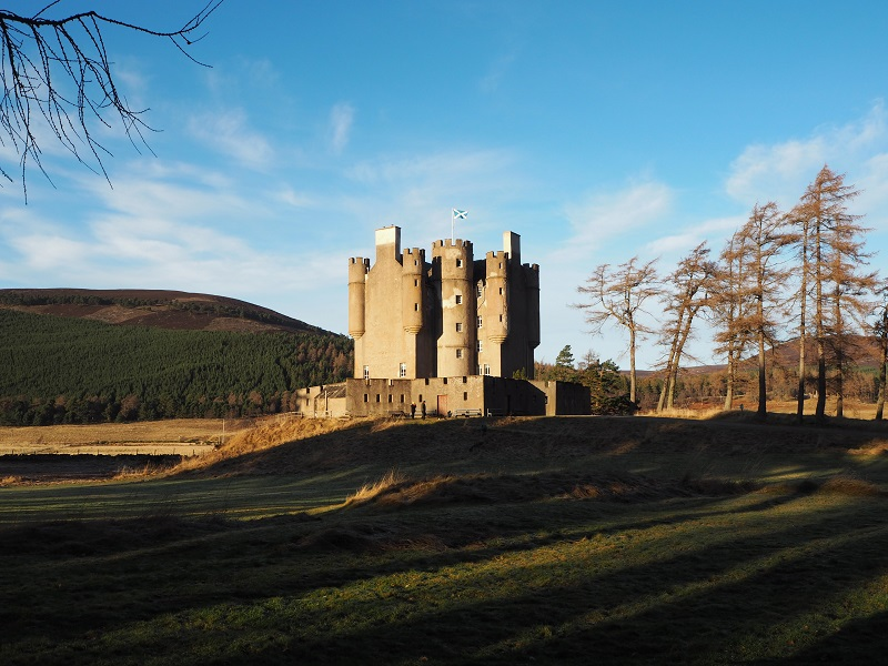 Braemar castle on the Lions Face and the Cromlins walk