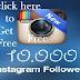 1000 Free Followers on Instagram