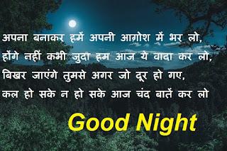sweet good night shayari for girlfriend