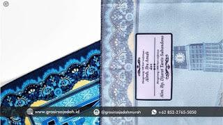 TERLARIS!!! Sajadah Custom Printed Sablon/Bordir FREE Desain