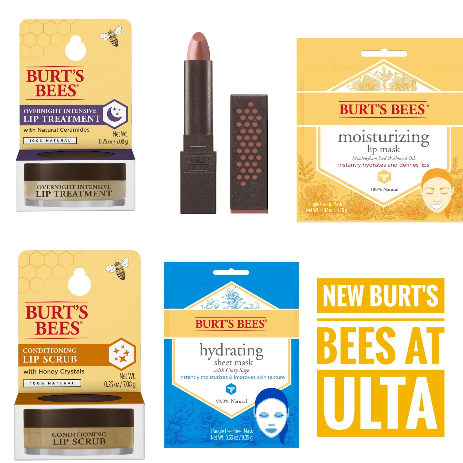 burt's bees lip treatment and lip scrub