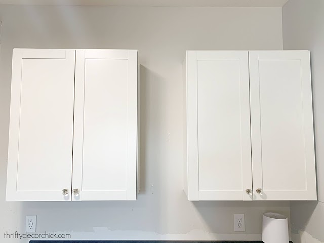 Two cabinets with space in between