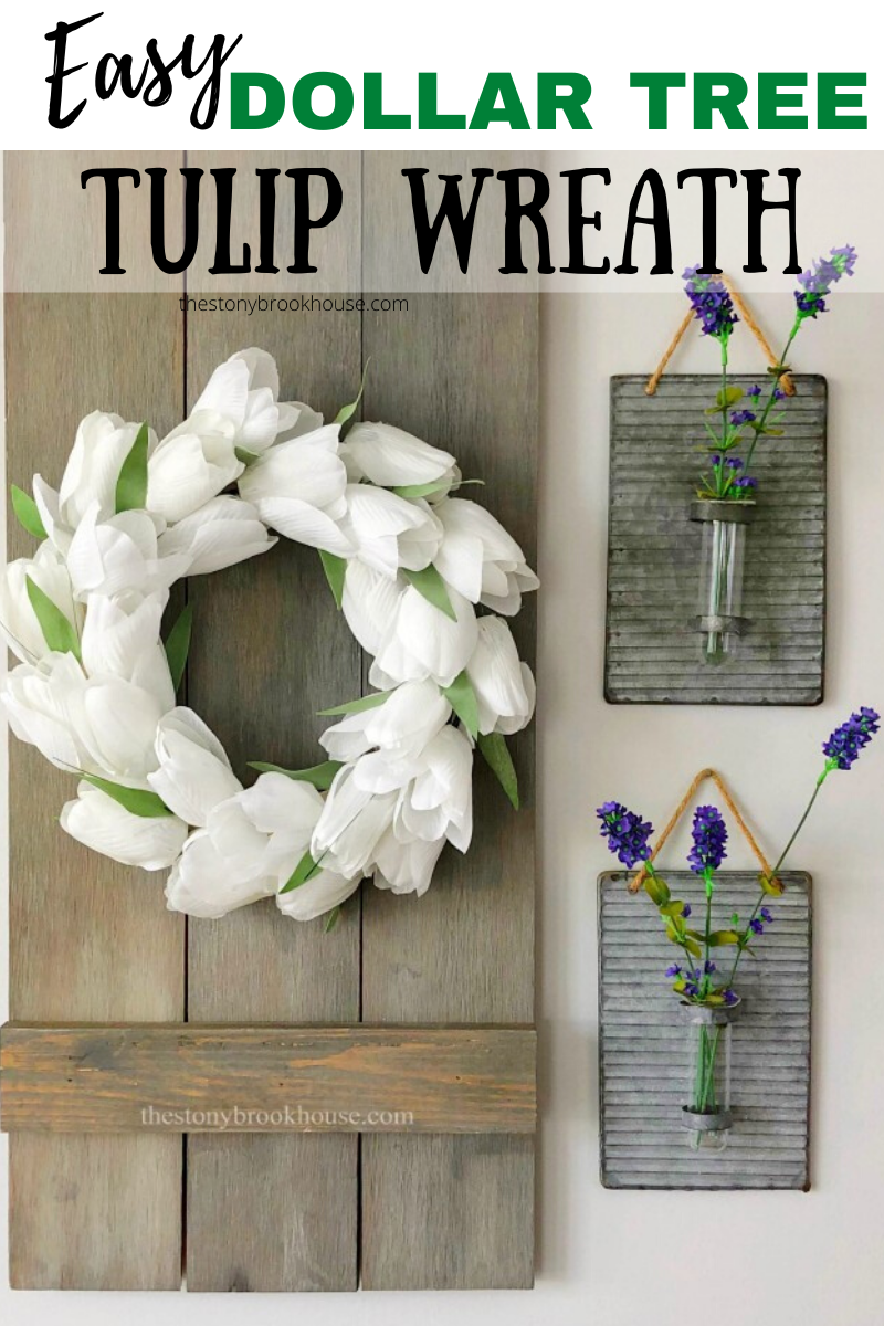 The Stonybrook House | DIY Mini Tulip Wreath