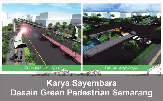 desain pedestrian kota semarang