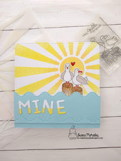Mine! a card by Diane Morales using the Gull Freinds Stamp Set by Newton's Nook Designs