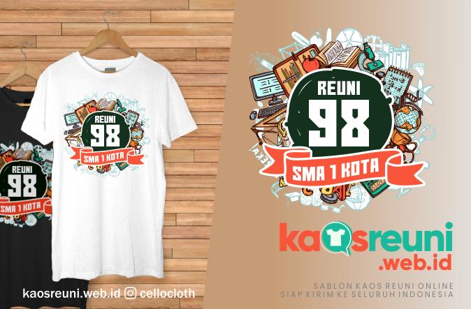 Contoh Desain Sablon Kaos Reuni Angkatan 98 - Kaos Reuni