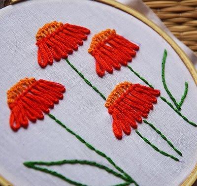 Hướng dẫn thêu hoa cúc - Hình 8