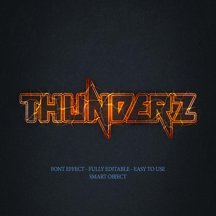 3D Bright Thunderz Text Effect