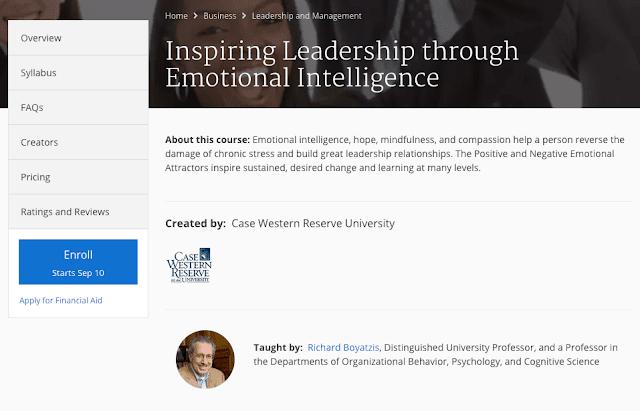 دورة Coursera للقيادة المُلهمة من خلال الذَّكاء العاطفي