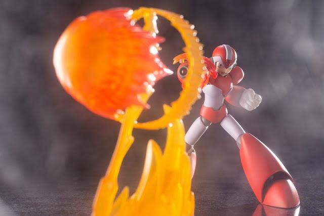 X Rising Fire Ver. 1/12 plastic model kit de  Rockman X/Mega Man X, Kotobukiya.