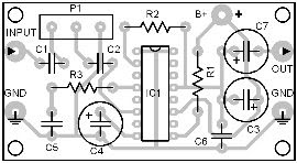 Parts-Placement-Layout-Single-IC-2.5W-Amplifier
