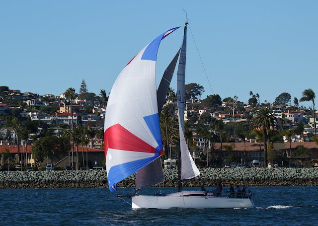 Sailboat in San Diego Bay. Greg Gillson.