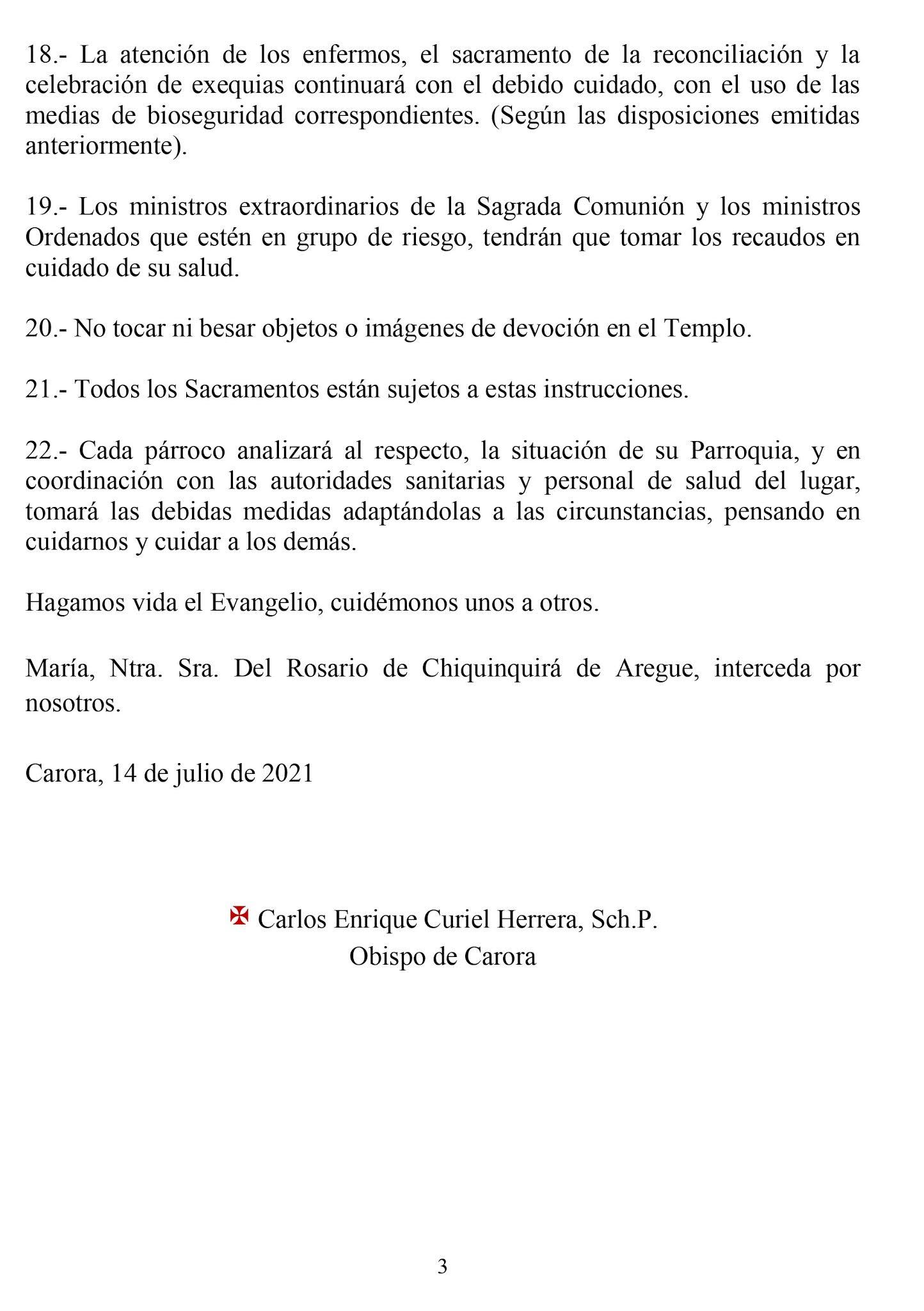 ANUNCIAN RETORNO GRADUAL A LOS TEMPLOS