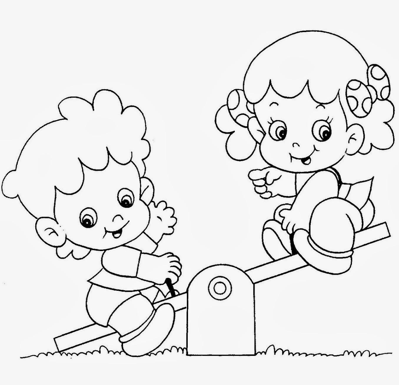 Desenho De Criancas Brincando Para Colorir Desenhos Para Colorir