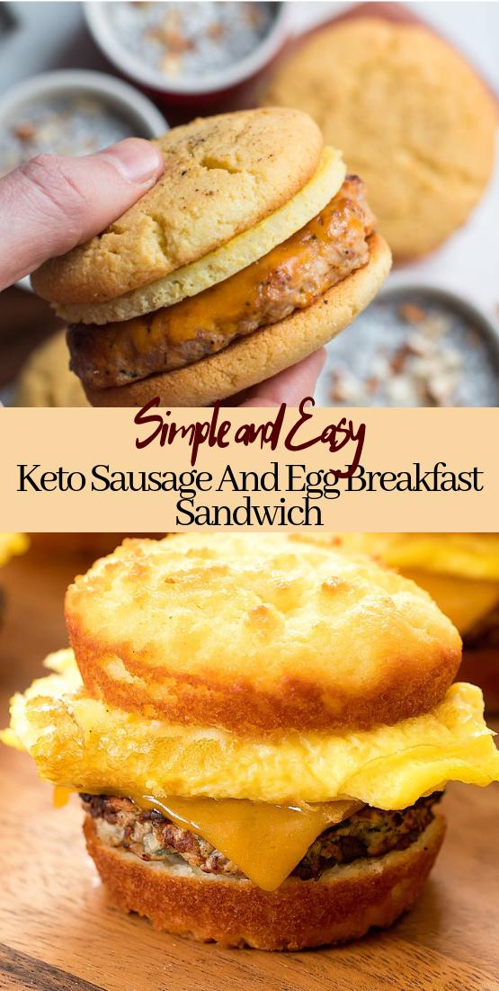 Keto Sausage And Egg Breakfast Sandwich #healthyfood #dietketo #breakfast #food