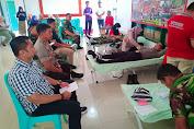 Sambut HUT TNI ke - 74, Polres Enrekang Ikut Serta Donor Darah