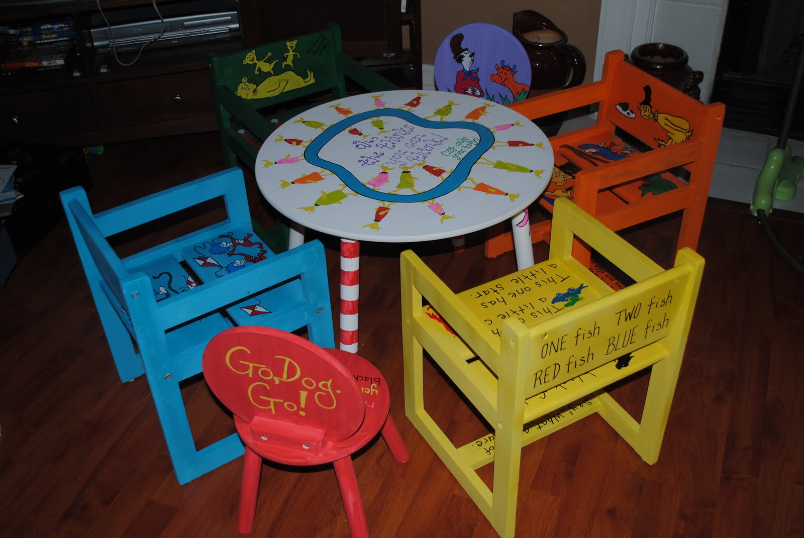 dr seuss chair revolving test the painted peach inspired play table and chairs set