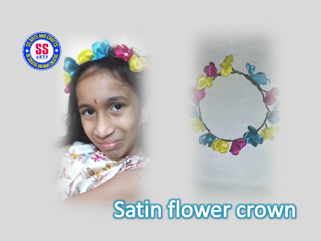 Here is how to make flower crown for kids,how to make paper crown,how to make foam flowers crown,kids hair accessories,kids head bands,kids flower head bands,designer headbands,bridal crown,how to make satin ribbon flower crown for kids