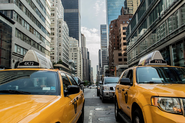 taxi cab traffic cab new-york-
