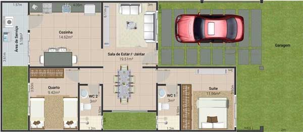 sketsa denah rumah minimalis sederhana 1 lantai