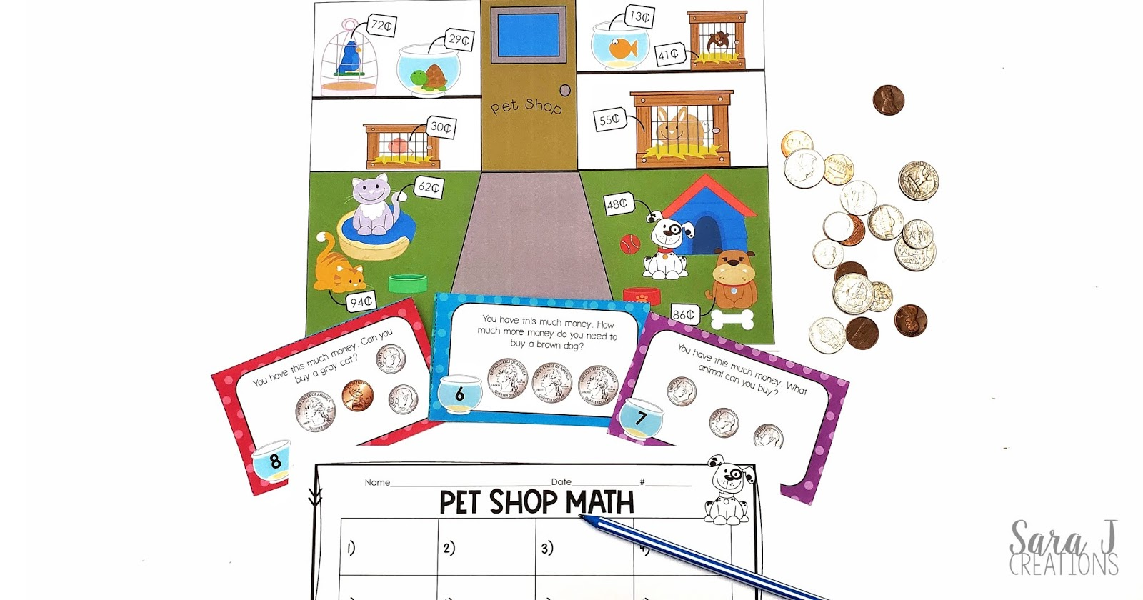 Eight counting coins activities to make teaching money more fun! Includes lots of games that are perfect for math stations, centers, small group, and more. Created with 2nd grade standards in mind.