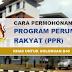 Cara Permohonan Program Perumahan Rakyat (PPR) - Golongan B40