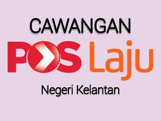 Cawangan Pos Laju Negeri Kelantan, POS LAJU KOTA BHARU, POS LAJU PASIR MAS, POS LAJU MACHANG, POS LAJU GIANT TUNJONG