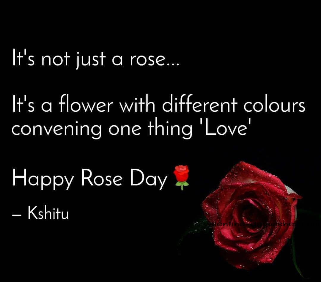 Quotes on Rose  Day 2020