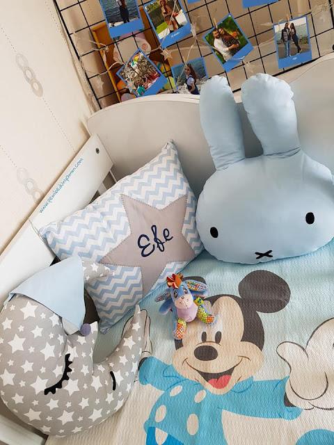 bebek odası dekor yastıklar