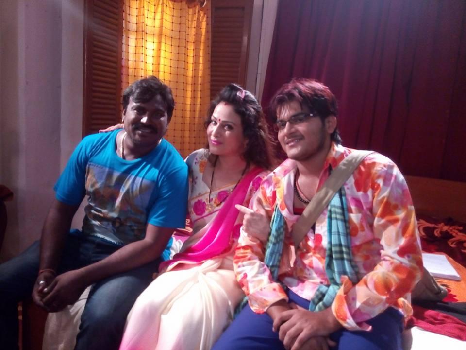 Pakhi Hegde and Kallu Balma Biharwala 2 Movie Shooting pic