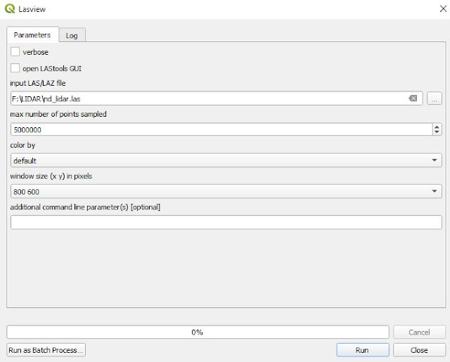 Lasview tool QGIS