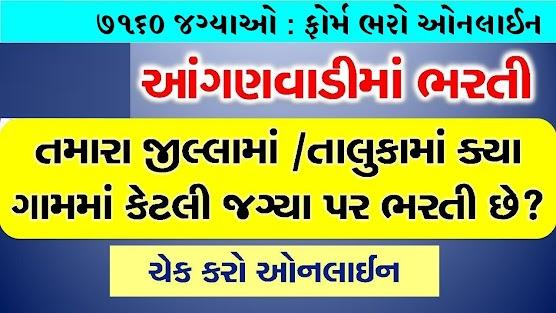 7160 Anganwadi Worker Recruitment & Marit List 2020 In Gujarat :