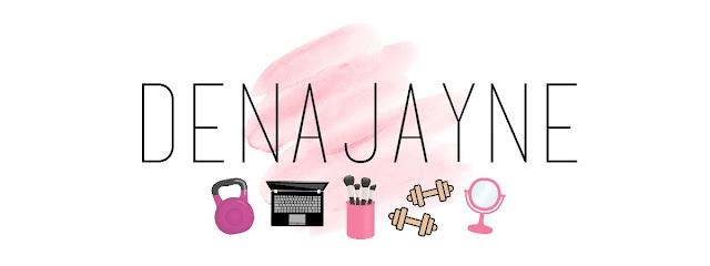 Pink Water Colour Blog Header, Custom Blog Header, Fitness Blog Header