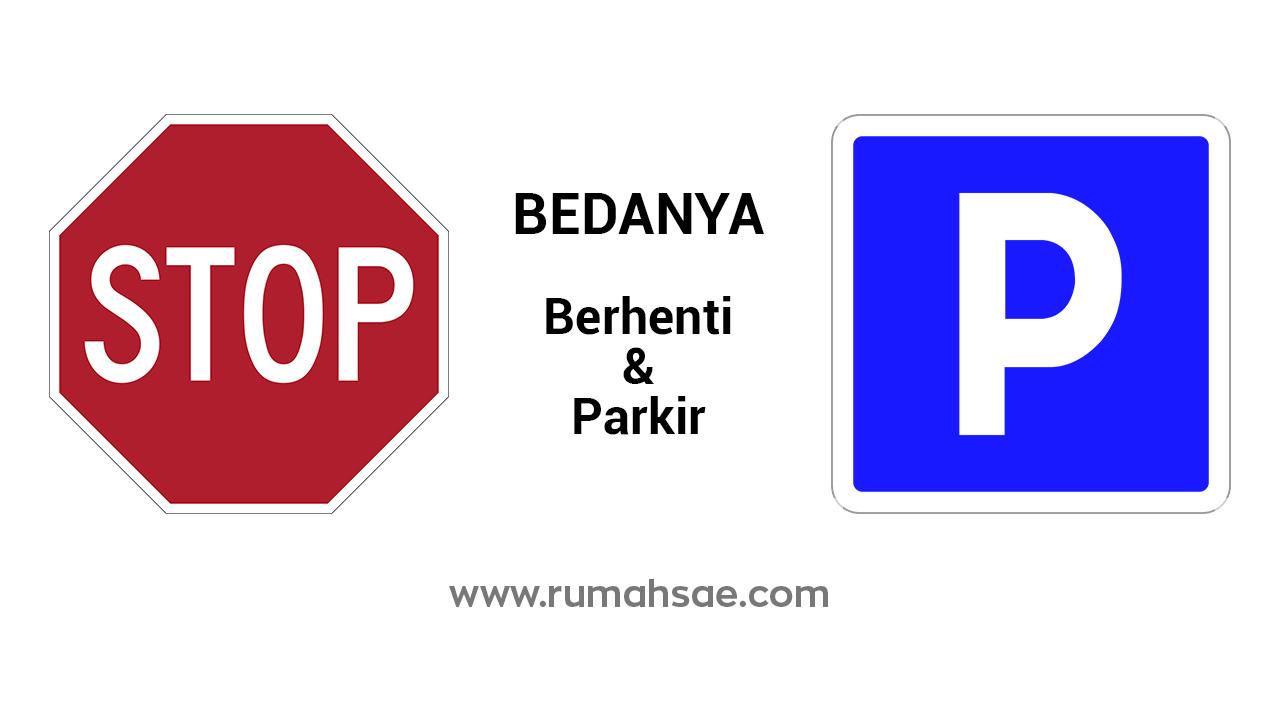 Perbedaan Berhenti dan Parkir