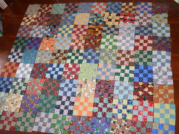 Scrappy 16-Patch Quilt
